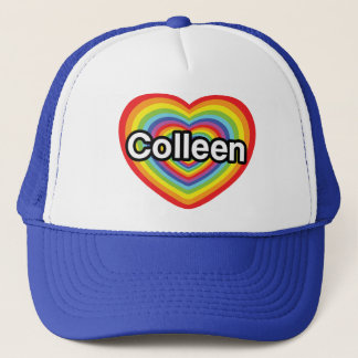 I love Colleen: rainbow heart Trucker Hat