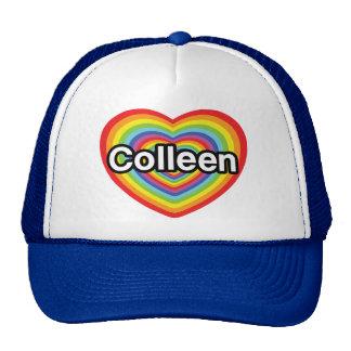 I love Colleen: rainbow heart Trucker Hat