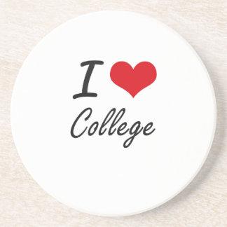 I Love College Artistic Design Coasters
