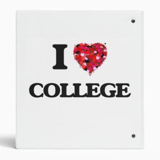 I Love College Binder
