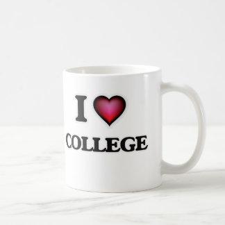 I Love College Coffee Mug