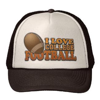 I Love College Football Mesh Hat