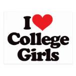 I Love College Girls Post Card