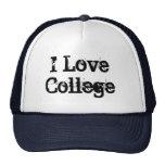 I Love College Hat