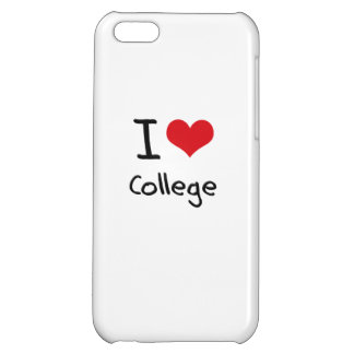 I love College iPhone 5C Covers