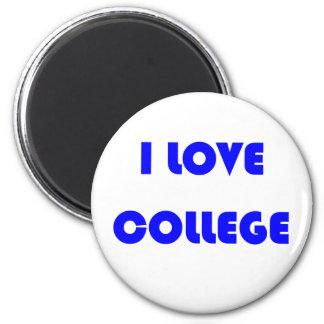 I Love College Fridge Magnet