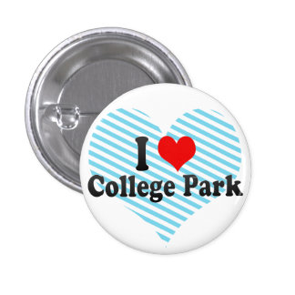 I Love College Park, United States Pinback Buttons
