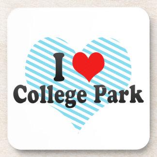 I Love College Park, United States Beverage Coasters