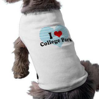 I Love College Park, United States Dog T Shirt