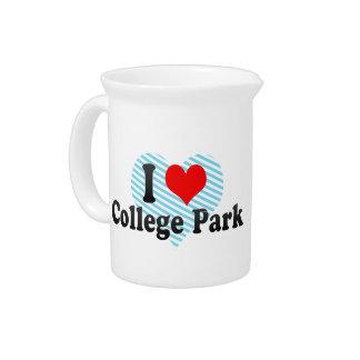 I Love College Park, United States Beverage Pitcher