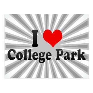 I Love College Park, United States Postcard