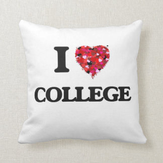 I Love College Pillows