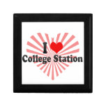 I Love College Station, United States Trinket Boxes