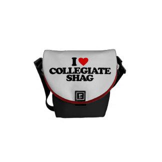 I LOVE COLLEGIATE SHAG COURIER BAG