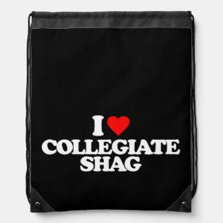 I LOVE COLLEGIATE SHAG DRAWSTRING BACKPACK