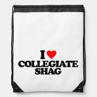 I LOVE COLLEGIATE SHAG DRAWSTRING BAG