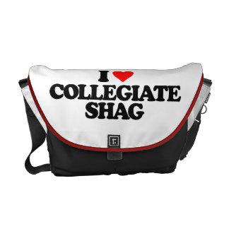 I LOVE COLLEGIATE SHAG MESSENGER BAG
