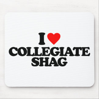 I LOVE COLLEGIATE SHAG MOUSE PAD