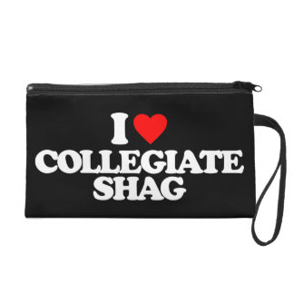 I LOVE COLLEGIATE SHAG WRISTLET PURSE