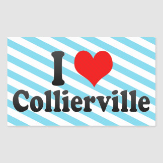 I Love Collierville, United States Stickers