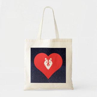 I Love Collies Budget Tote Bag