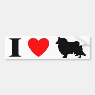 I Love Collies Bumper Sticker Car Bumper Sticker