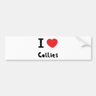 I love Collies Bumper Stickers