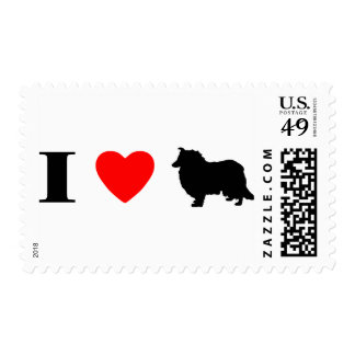 I Love Collies Stamps