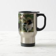 I love collies travel mug w/pics x5