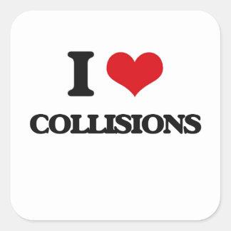 I love Collisions Square Sticker