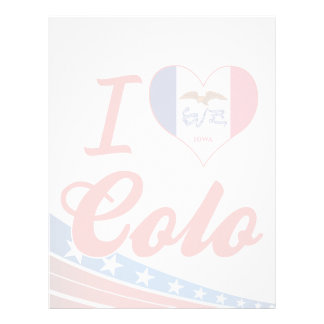 I Love Colo, Iowa Custom Letterhead