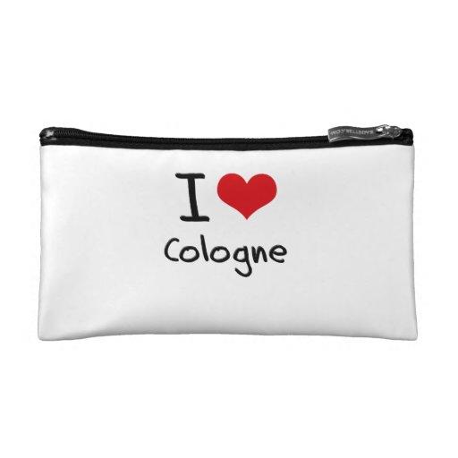 I love Cologne Cosmetics Bags
