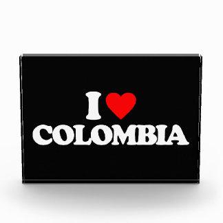 I LOVE COLOMBIA ACRYLIC AWARD