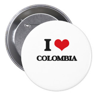 I Love Colombia Pin
