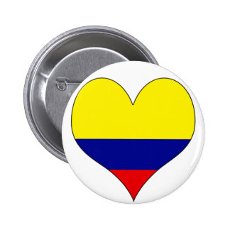 I Love Colombia Button
