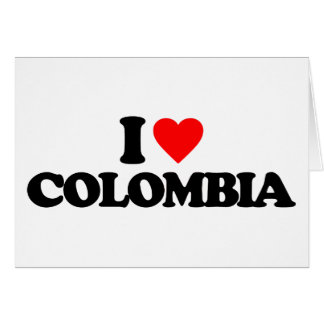 I LOVE COLOMBIA GREETING CARDS