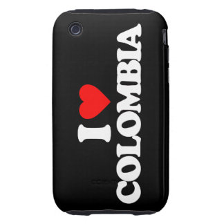 I LOVE COLOMBIA TOUGH iPhone 3 COVER