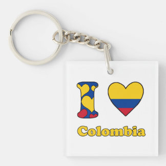 I love Colombia Key Chains