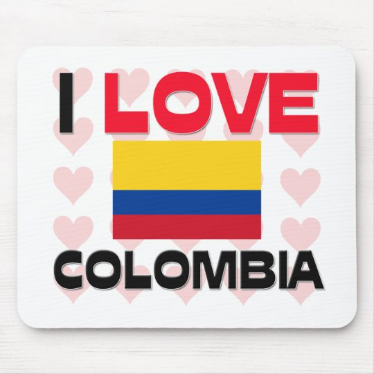 I Love Colombia Mouse Pad