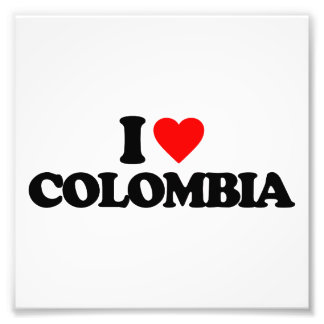 I LOVE COLOMBIA PHOTO PRINT
