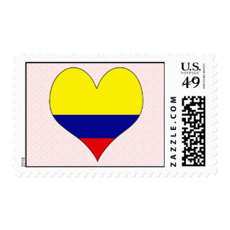 I Love Colombia Postage Stamp