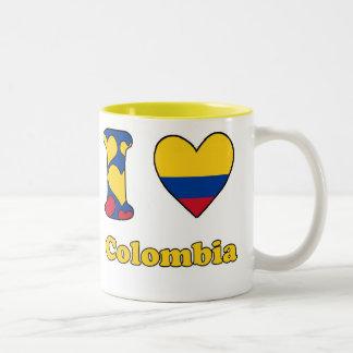 I love Colombia Two-Tone Coffee Mug