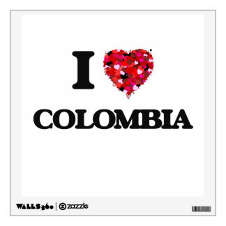 I Love Colombia Wall Sticker