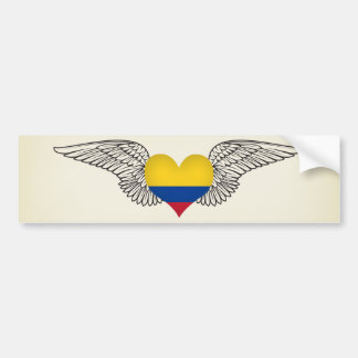 I Love Colombia -wings Bumper Sticker
