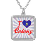 I Love Colony, Kansas Personalized Necklace