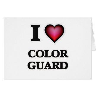 I Love Color Guard Card