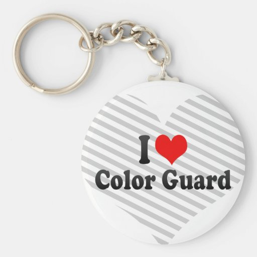 I love Color Guard Key Chains