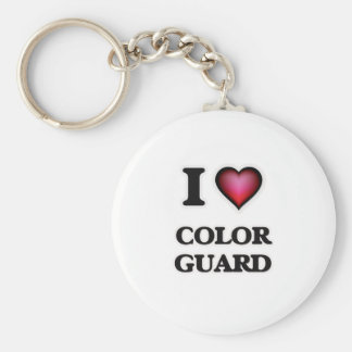 I Love Color Guard Keychain