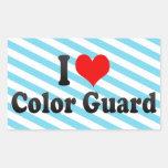 I love Color Guard Sticker