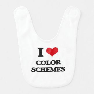 I love Color Schemes Baby Bib